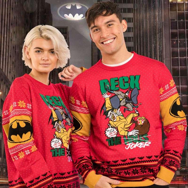 Batman 'Deck The Joker' Christmas Jumper / Ugly Sweater