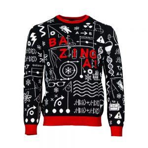 Official The Big Bang Theory 'Bazinga' Christmas Jumper / Ugly Sweater