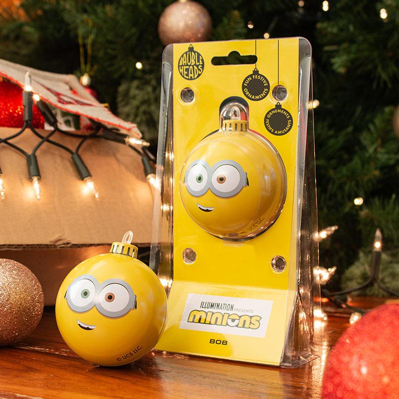 Bauble Heads Minions 'Bob' Christmas Decoration / Ornament