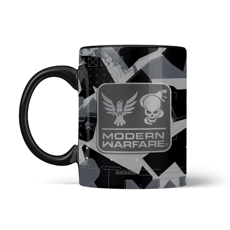 Call of Duty Modern Warfare Metal Badge Mug