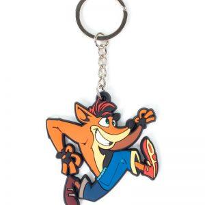 Crash Bandicoot Crash Rubber Keyring / Keychain