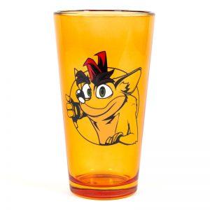 Crash Bandicoot Orange Pint Glass