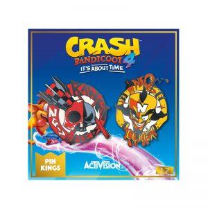 Pin Kings Crash Bandicoot Enamel Pin Badge Set 1.2 – Cortex and Dr. N. Gin