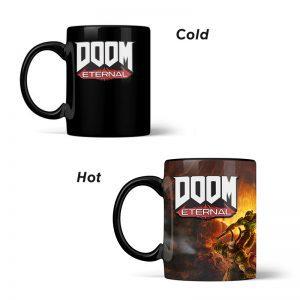 DOOM Metal Badge Heat Changing Mug