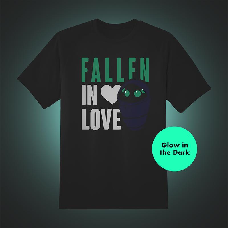 Official Destiny Fallen Baby 'Fallen In Love' Glow in the Dark Black T-Shirt