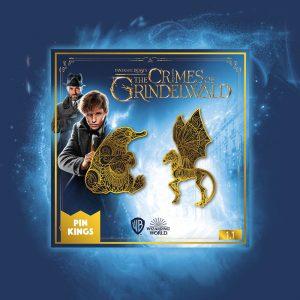 Pin Kings Harry Potter Fantastic Beasts Enamel Pin Badge Set 1.1 – Niffler & Thestral