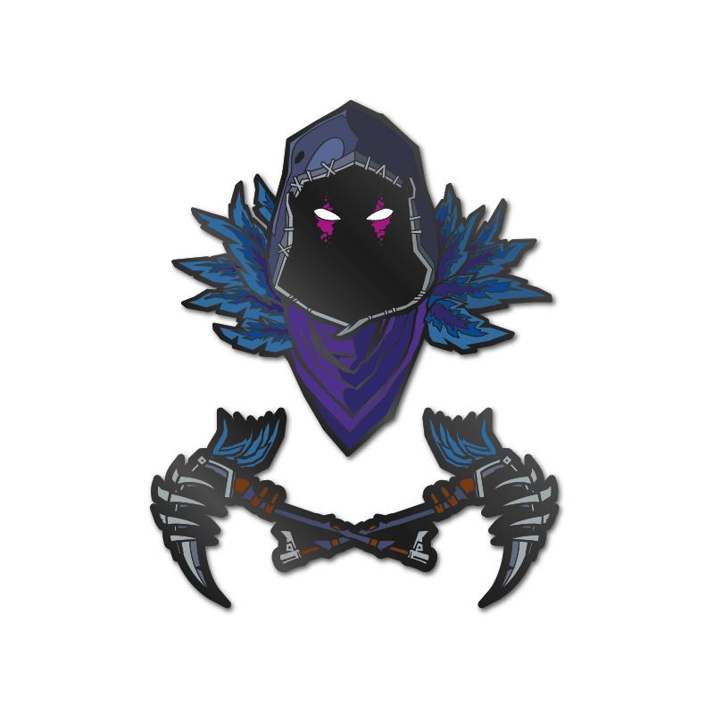 Pin Kings Fortnite Enamel Pin Badge Set 1.1 – Raven
