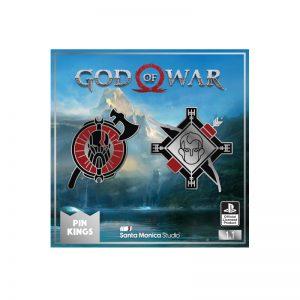 Pin Kings God Of War Enamel Pin Badge Set 1.1 – Kratos & Atreus