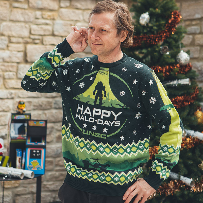 Official Halo 'Happy Halo-Days' Christmas Jumper / Ugly Sweater