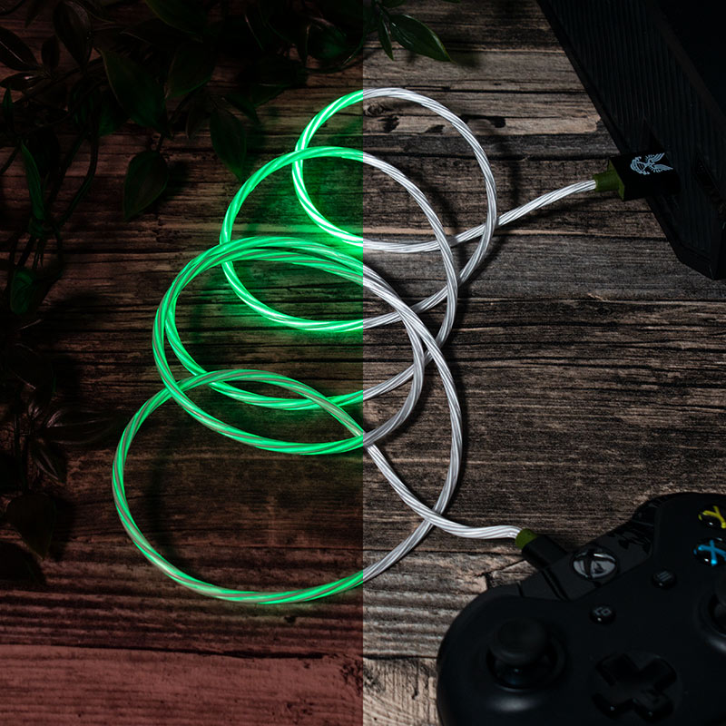 Official Halo Micro-USB LED Charge Cable (PS4 and Xbox One)