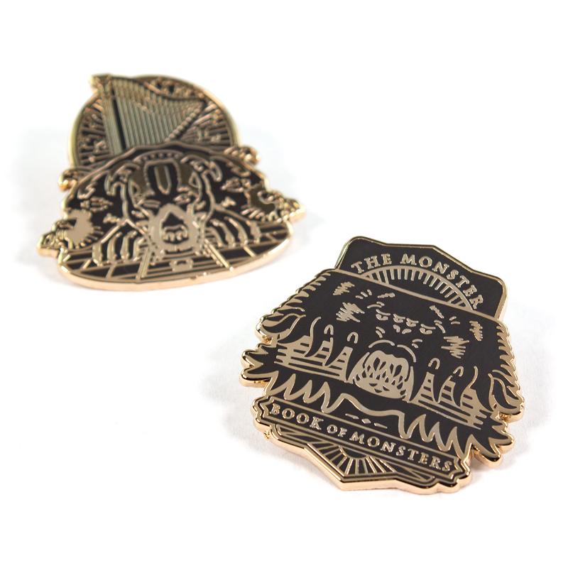 Pin Kings Harry Potter Enamel Pin Badge Set 1.1 – Book of Monsters & Fluffy