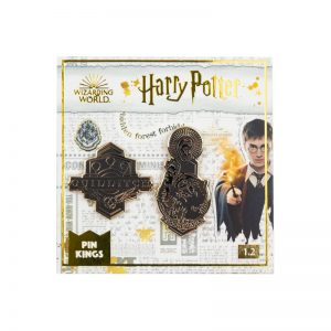 Pin Kings Harry Potter Enamel Pin Badge Set 1.2 – Quidditch & Crookshanks