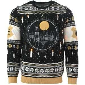 Harry Potter Hogwarts Castle Light Up LED Christmas Jumper / Ugly Sweater