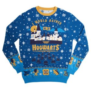 Official Harry Potter 'I Would Rather Be At Hogwarts' Christmas Jumper / Ugly Sweater