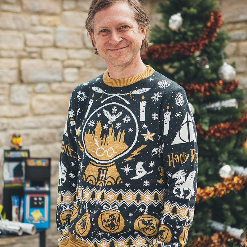 Official Harry Potter 'Snow Globe Christmas' Christmas Jumper / Ugly Sweater