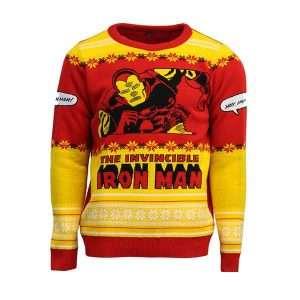 Iron Man 'Yay, Iron Man!' Christmas Jumper / Ugly Sweater