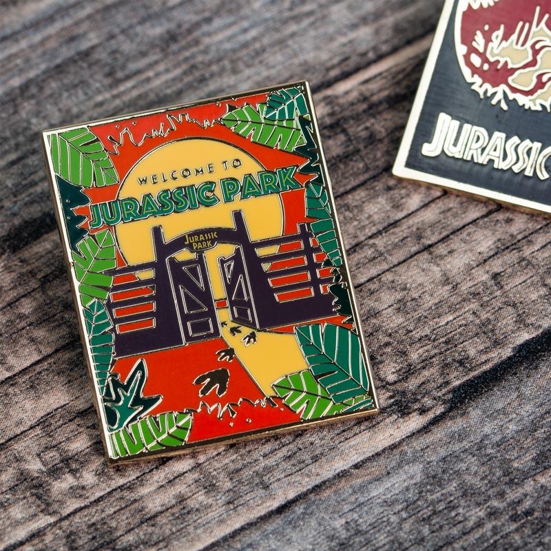 Pin Kings Jurassic Park Enamel Pin Badge Set 1.1