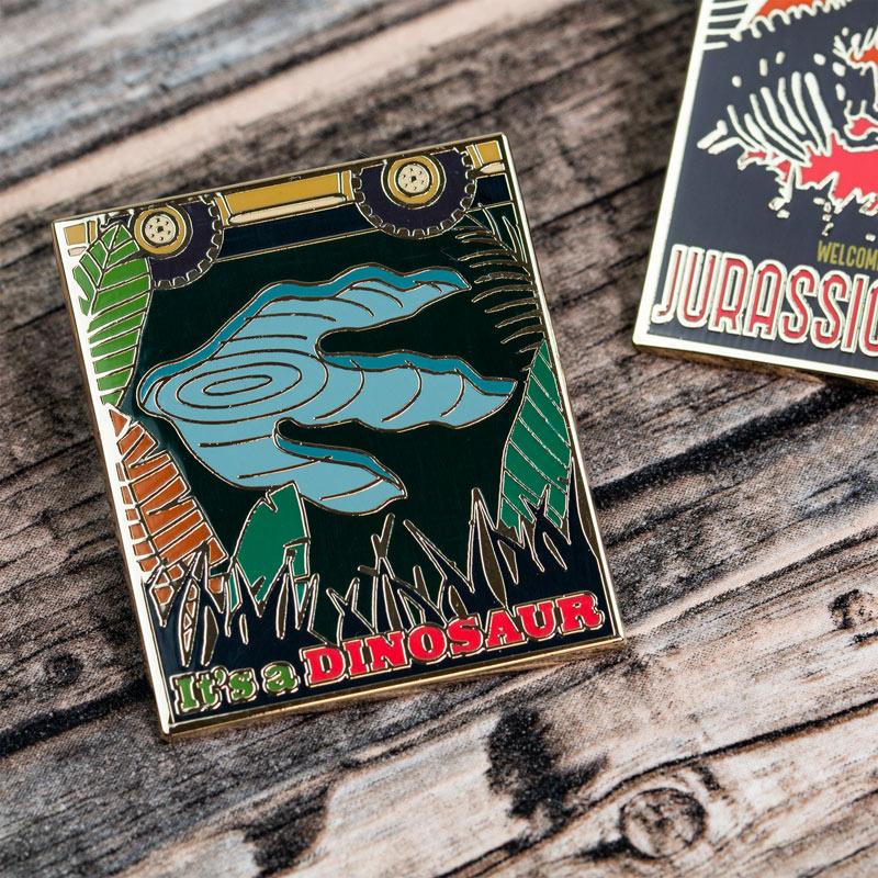 Pin Kings Jurassic Park Enamel Pin Badge Set 1.2