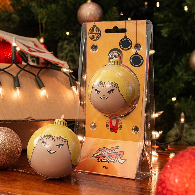 Bauble Heads Street Fighter 'Ken' Christmas Decoration / Ornament