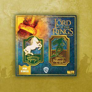 Pin Kings Lord of the Rings Enamel Pin Badge Set 1.1 – Prancing Pony & Green Dragon