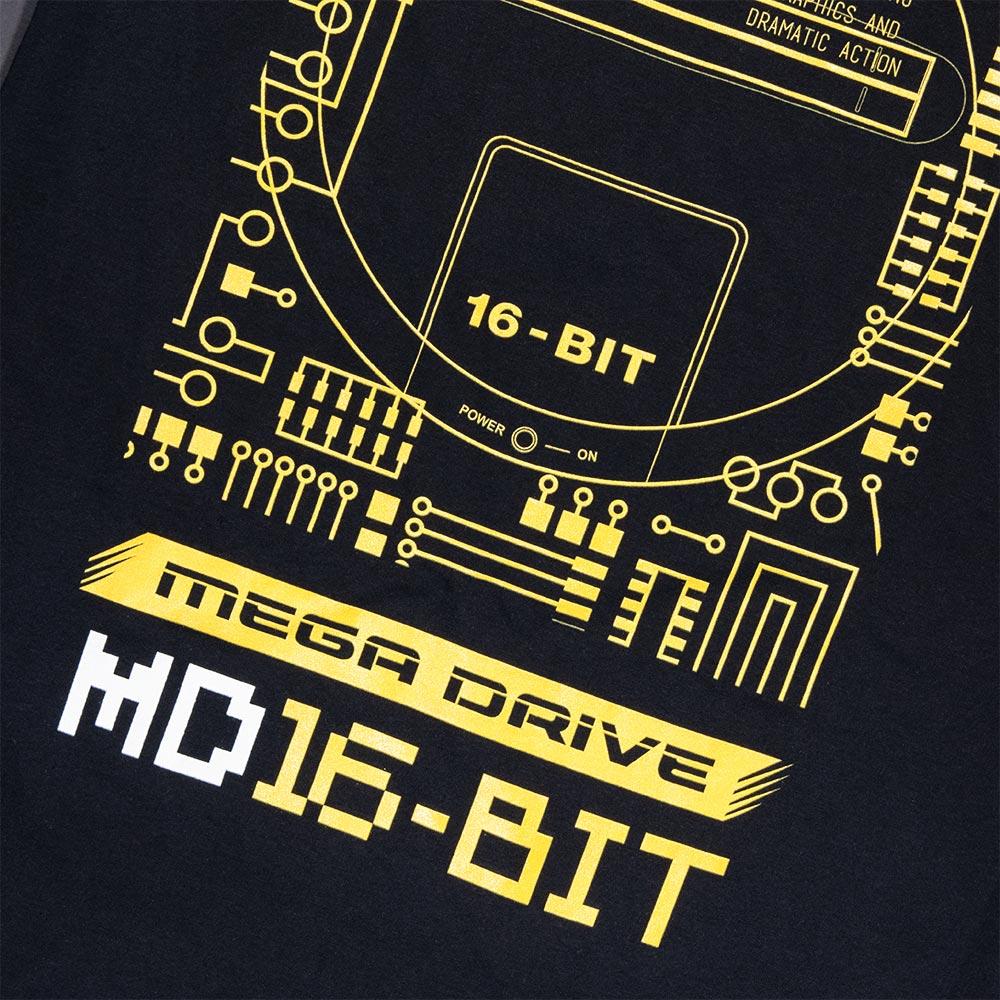 Official Mega Drive 'Technical Spec' Black T-Shirt (Unisex)
