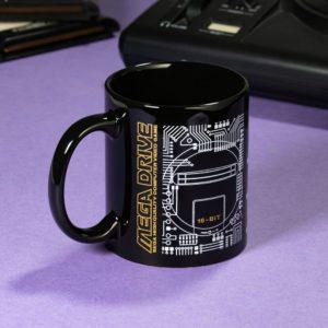 Official Mega Drive 'Logo' Black Ceramic Mug