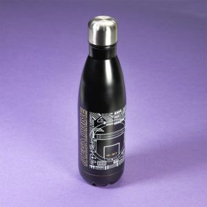 Official Mega Drive 'Technical Spec' Black Bowling Pin Style Water Bottle