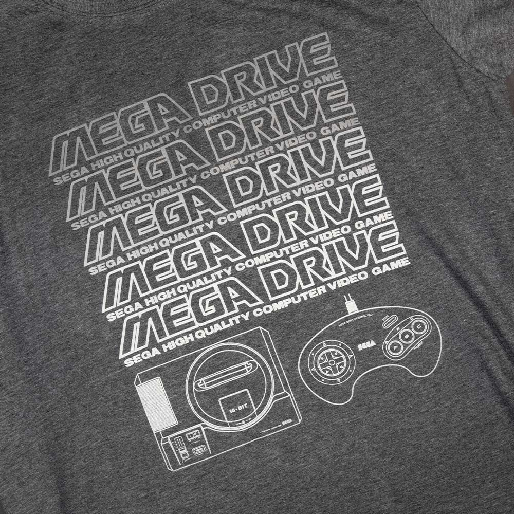 Official Mega Drive Grey Marl T-Shirt (Unisex)
