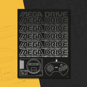 Official Mega Drive 'Logo and Console' A3 Poster