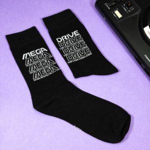 Official Mega Drive 'Retro Logo' Black Socks (One Size)