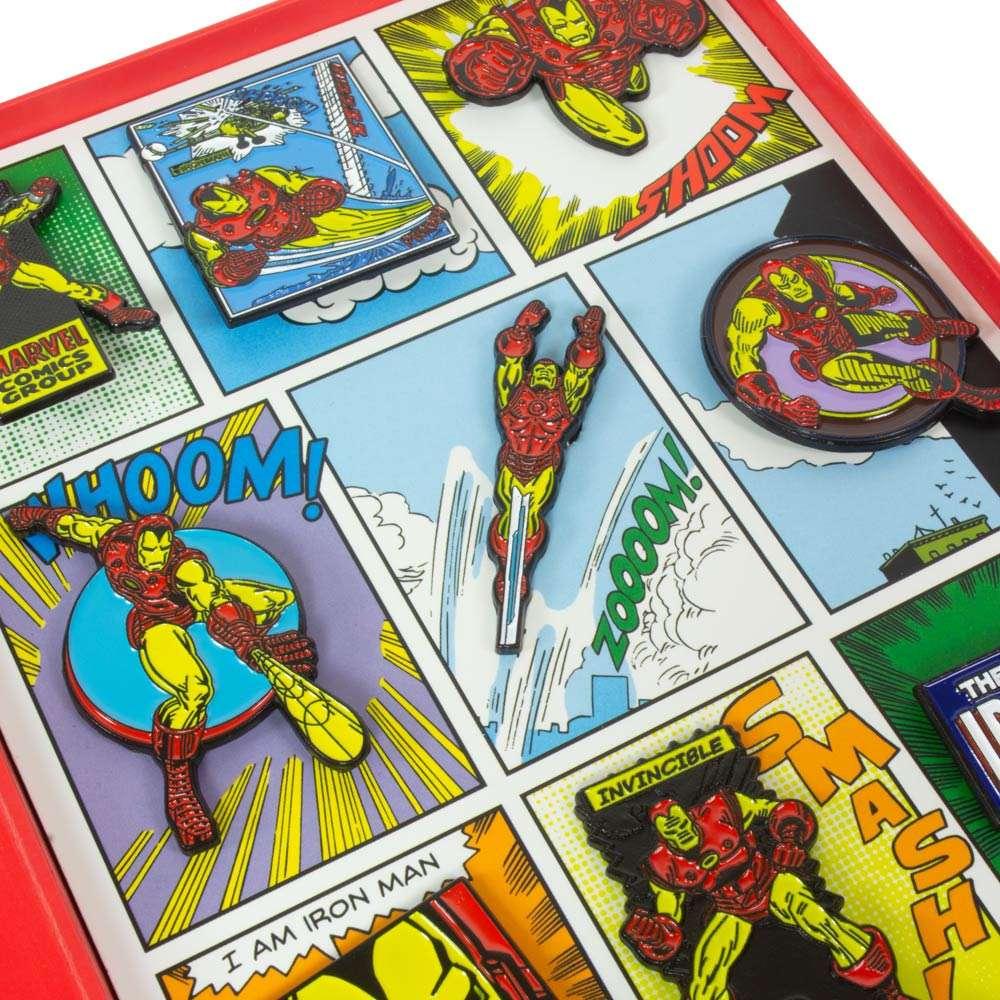 Avengers Iron Man Retro Pin Badge Set