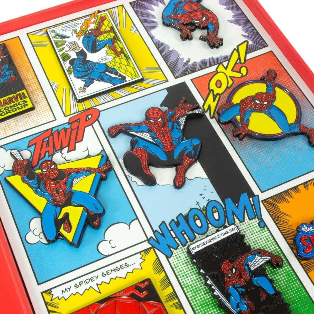 Avengers Spider-Man Retro Pin Badge Set