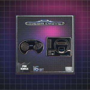 Pin Kings SEGA Console Enamel Pin Badge Set 1.1 – Mega Drive