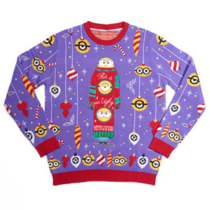 Official Minions Christmas Jumper / Ugly Sweater