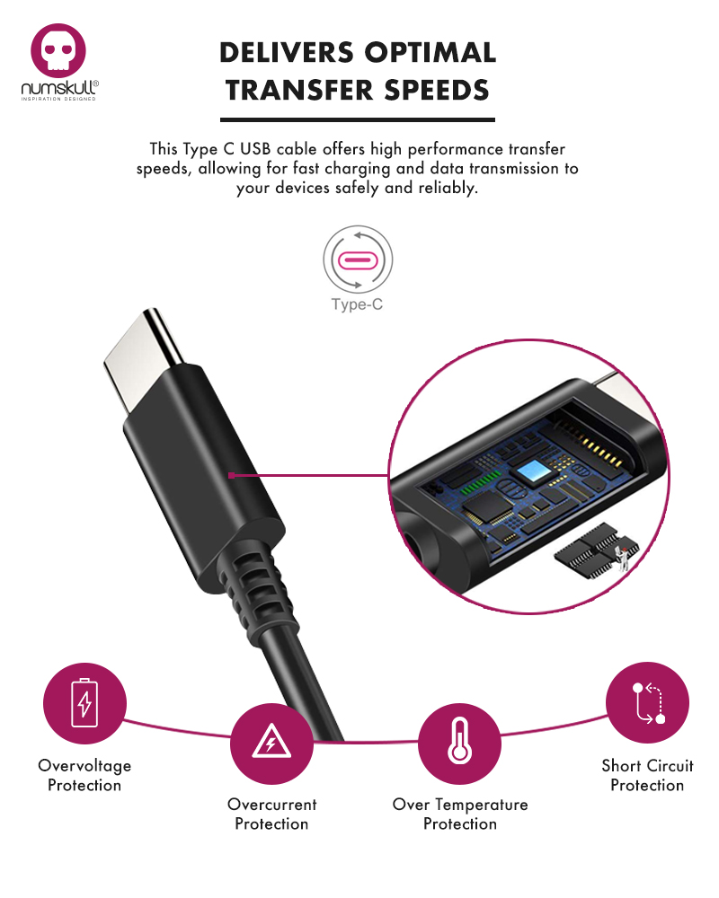 Numskull Nintendo Switch Mains Charger USB C