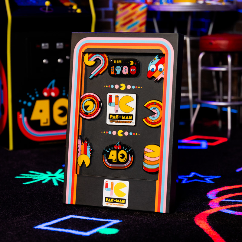 PAC-MAN 40th Anniversary Pin Badge Set