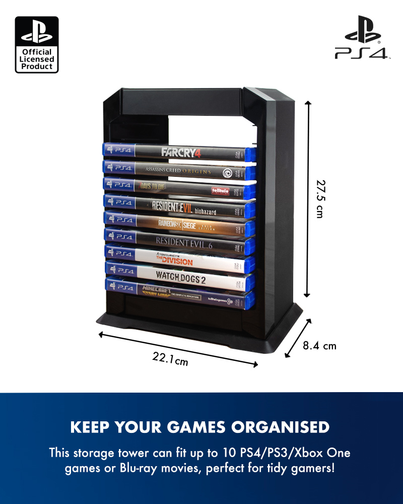 Official Sony PlayStation 4 / PS4 Premium Games Tower / Holder