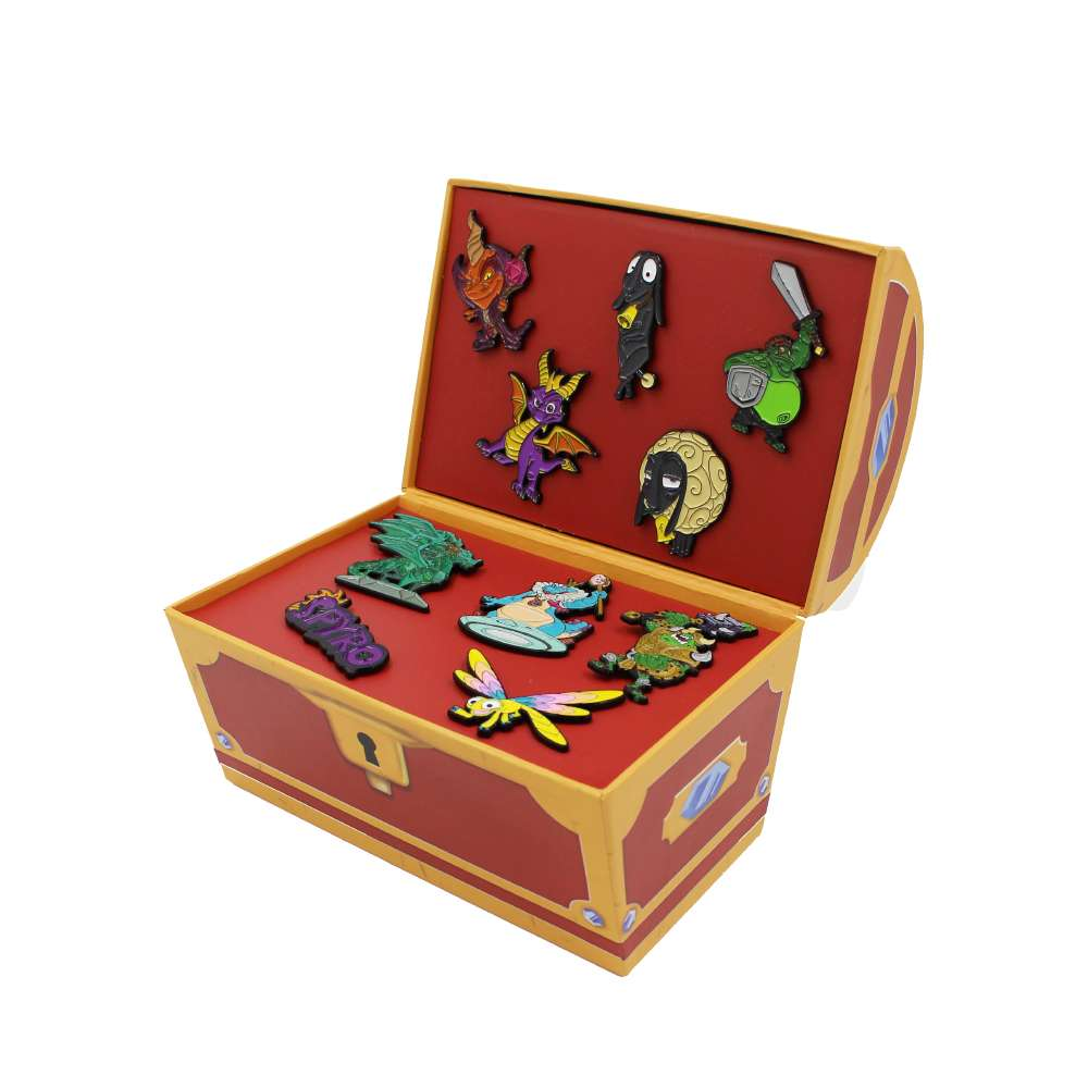 Spyro the Dragon Pin Badge Set