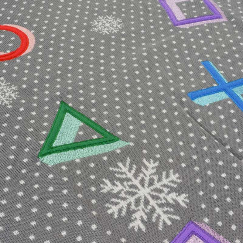 PlayStation Symbols Christmas Jumper / Ugly Sweater (Grey)