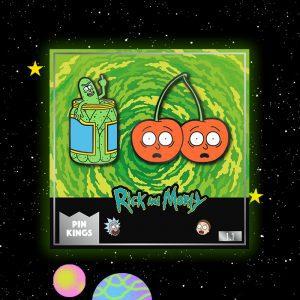 Pin Kings Rick and Morty Enamel Pin Badge Set 1.1 – Pickle Rick & Cherry Morty