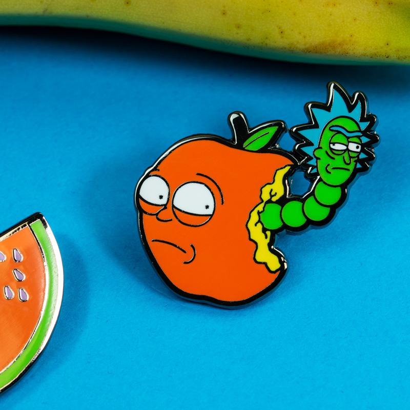 Pin Kings Rick and Morty Enamel Pin Badge Set 1.2 – Apple Morty & Watermelon Morty