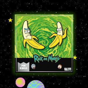 Pin Kings Rick and Morty Enamel Pin Badge Set 1.3 – Banana Rick & Morty