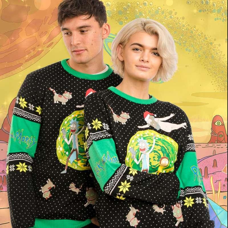 Rick & Morty Portal Christmas Jumper / Ugly Sweater