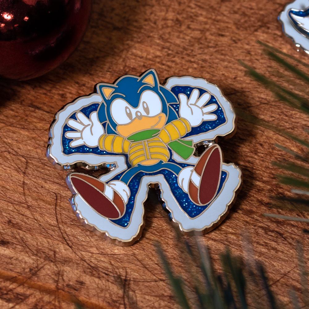 Pin Kings SEGA Classic Sonic The Hedgehog Christmas Enamel Pin Badge Set