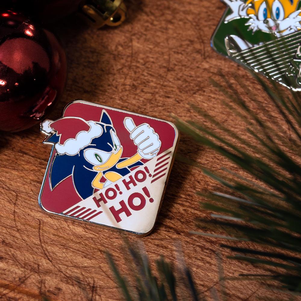 Pin Kings SEGA Modern Sonic The Hedgehog Christmas Enamel Pin Badge Set