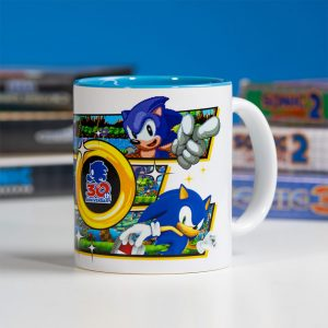 Official Sonic the Hedgehog 30th Anniversary White Ceramic Mug