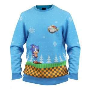 Sonic Green Hill Zone Christmas Jumper / Ugly Sweater
