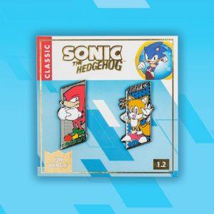 Pin Kings SEGA Sonic the Hedgehog Enamel Pin Badge Set 1.2 – Tails & Knuckles