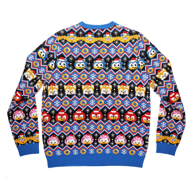 Official Sonic The Hedgehog Fairisle Christmas Jumper / Ugly Sweater