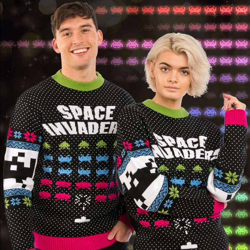 Space Invaders Christmas Jumper / Ugly Sweater
